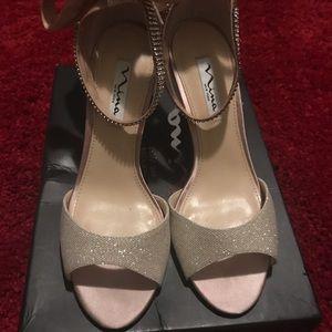 Nina gold dress shoes